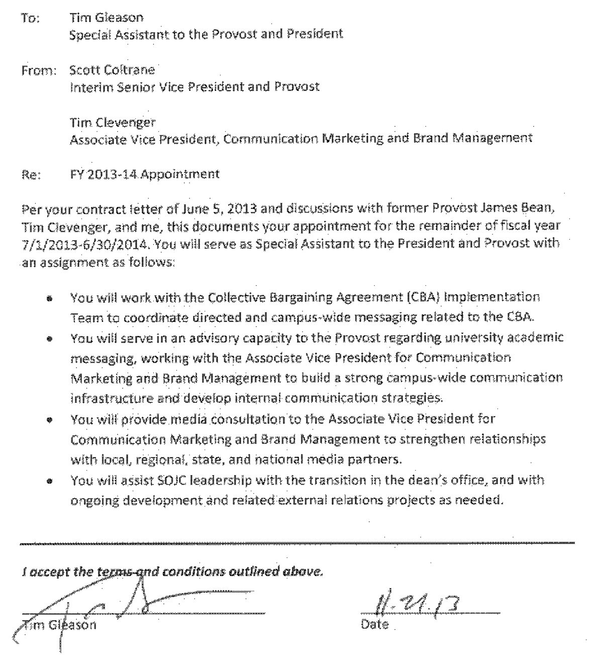 Tim gleason uo matters for Football contract template