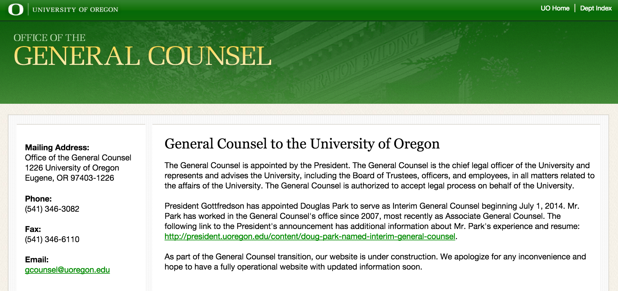 UO General Counsel stops pleading the Fifth on Dearinger resume ...