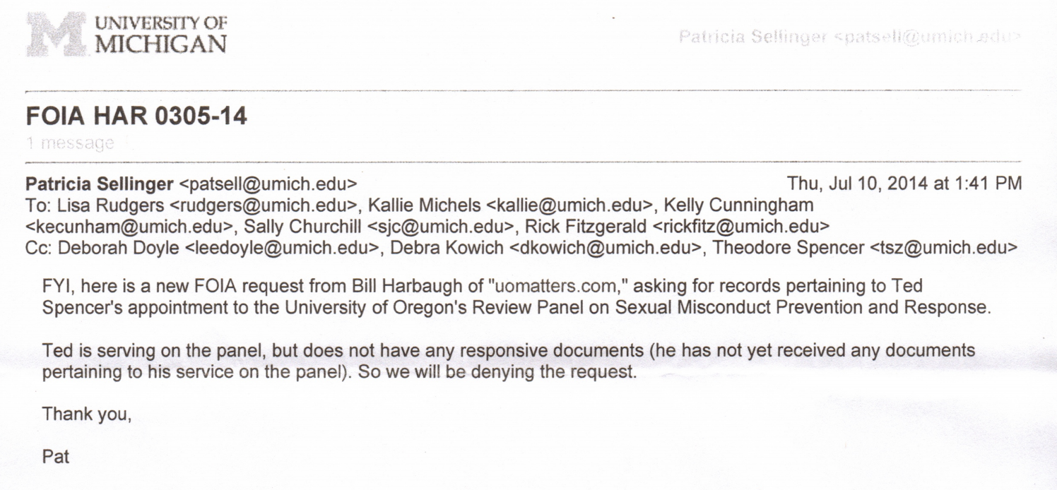 Gottfredson Sex Assault Review Panel Page 2 Uo Matters