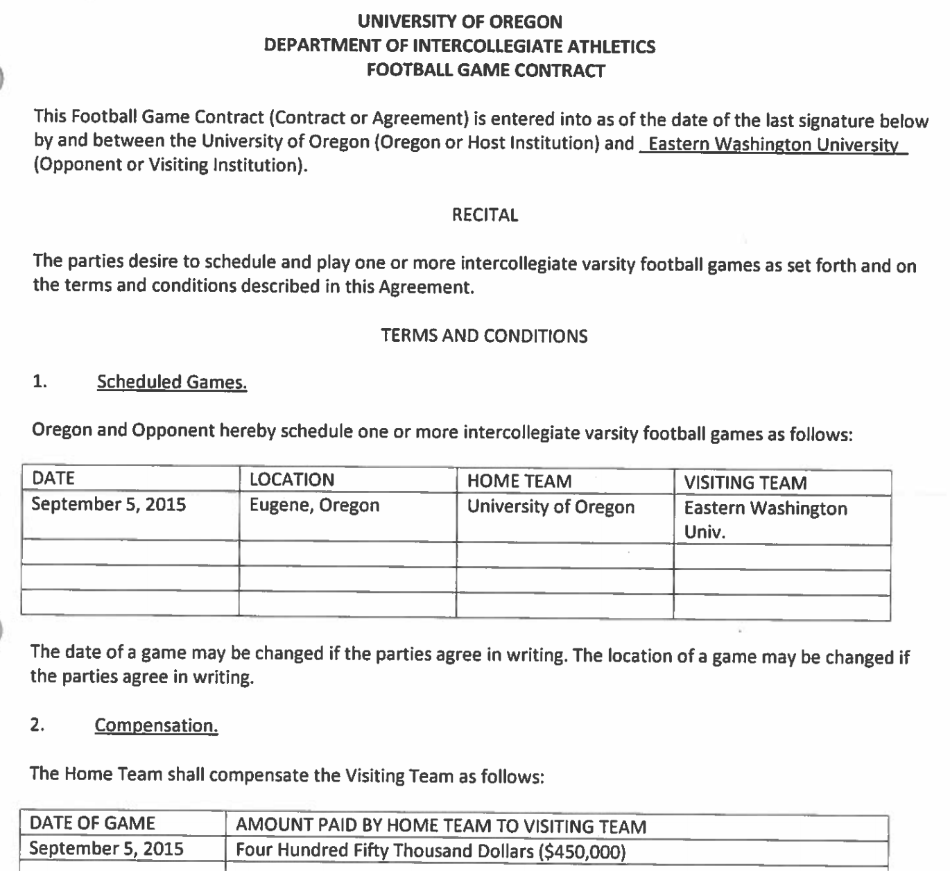 Attractive Student Academic Contract Template And Professional Athlete Contract Template
