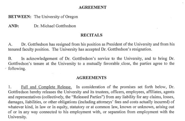 Michael Gottfredson Uo Matters