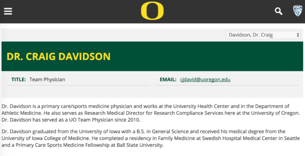 Why are UO students' health fees paying for the Duck's Team